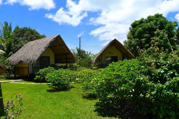 Pension Au Phil du Temps Taha'a - Bungalow Aussenansicht - Tahiti