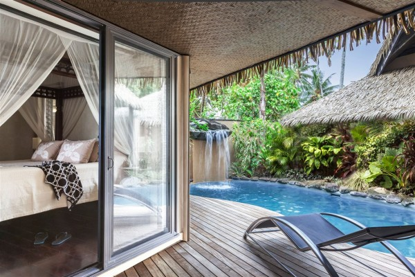 Hotel Rumours Luxury Villas & Spa Rarotonga - Strandvilla Pool - Cook Inseln