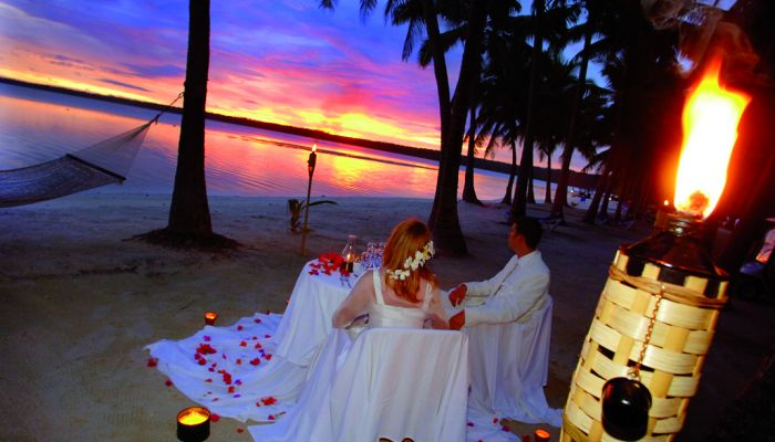 Heiraten Aitutaki - Dinner am Strand - Cook Inseln